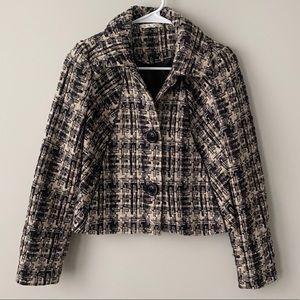 CAbi Corporate Tweed Boucle Blazer Jacket NWOT